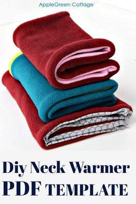 Neck Warmer Template - Cowl Scarf