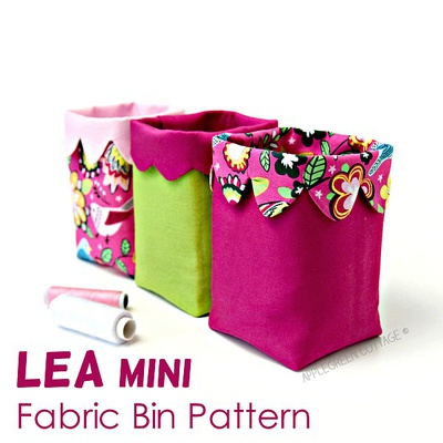 LEA Mini Fabric Bin Pattern