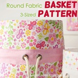 Round Fabric Basket In 3 Sizes