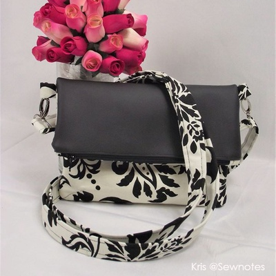 Sophia Fold-Over Clutch And Crossbody Bag Pattern