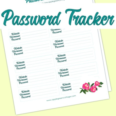 Password Tracker - Organizer