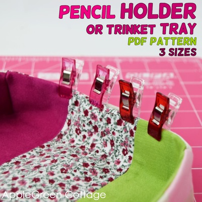 Pencil Holder Or Trinket Tray PDF Pattern