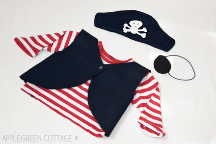 Pirate Vest Pattern Size 2-3 Years