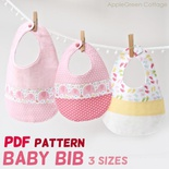 Baby Bib Pattern In 3 Sizes