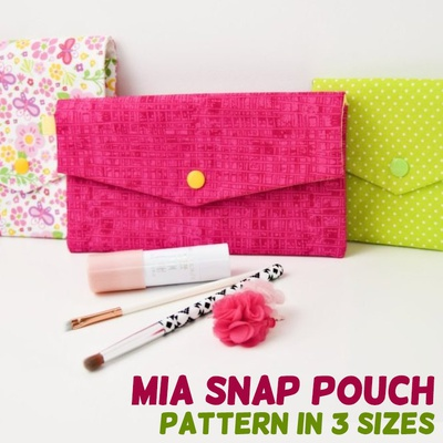 Mia Snap Pouch in 3 Sizes